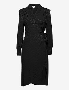 Ember Dress - omlottklänningar - black