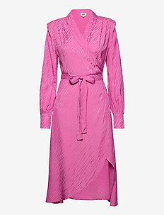 Ember Dress - wrap dresses - vivid pink
