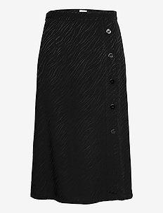 Elina Skirt - midi kjolar - black