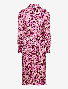 Skyla Dress - shirt dresses - safari pink print