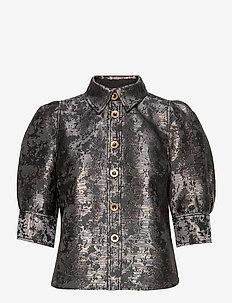 Ylva Blouse - short-sleeved blouses - dk ink