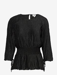 Lovisa Blouse - långärmade blusar - black