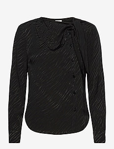 Madison Blouse - long sleeved blouses - black