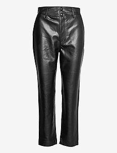 Alivia Trousers - pantalons en cuir - black