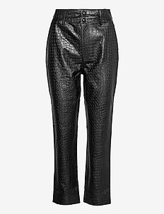 Alivia Trousers - skinnbyxor - black croco