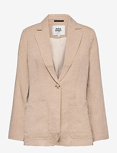 Cindy Blazer - casual blazers - beige melange