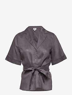 Ashley Shirt - kortärmade skjortor - dk asphalt
