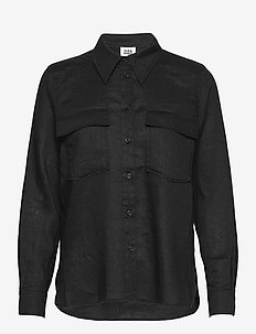 Claudia Shirt - long-sleeved shirts - black