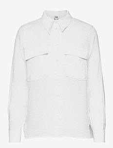 Claudia Shirt - långärmade skjortor - white