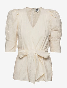 Nova Blouse - long sleeved blouses - whispy white