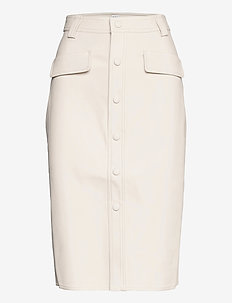 Karin Skirt - midi skirts - whispy white