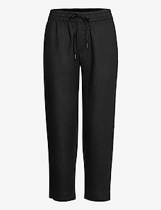Bente Trousers - raka byxor - black