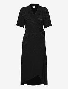 Ebba Dress - omlottklänningar - black