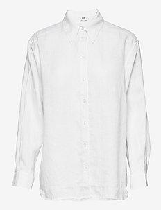 Kelly Shirt - långärmade skjortor - white