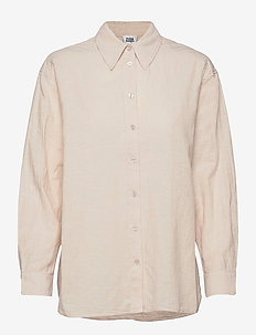 Sara Shirt - långärmade skjortor - neutral beige