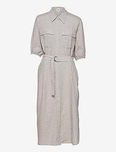 Clarissa Dress - sommarklänningar - grey melange