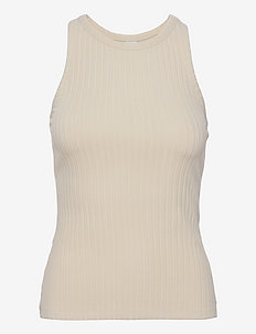 Ina Tank Top - linnen - unbleached