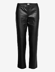 Camilla Trousers - pantalons en cuir - black