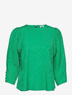 Kaice Blouse - långärmade blusar - vivid green