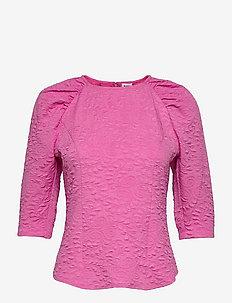 Leola Blouse - långärmade blusar - vivid pink