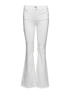 Julie Flare Trousers - WHITE