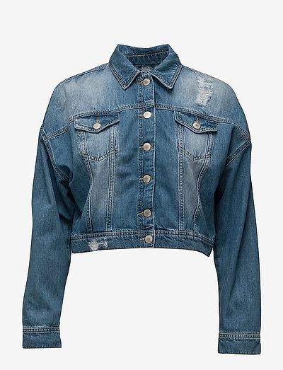 Jila Jacket - denimjakker - mid blue denim