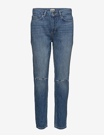Sarah Jeans - slim jeans - mid blue cut