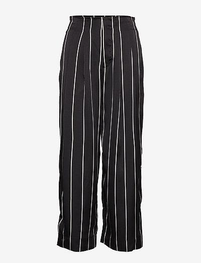 Brenda Trousers - bukser med brede ben - black stripe