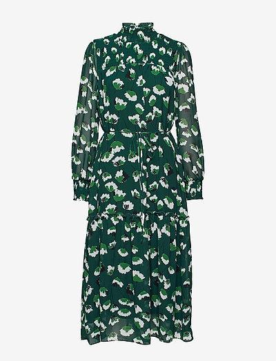 Aline Long Dress - sommerkjoler - green flower