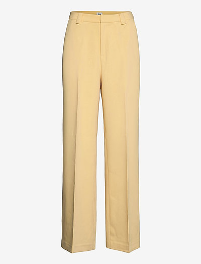 Victoria Trousers - bukser med brede ben - pale yellow