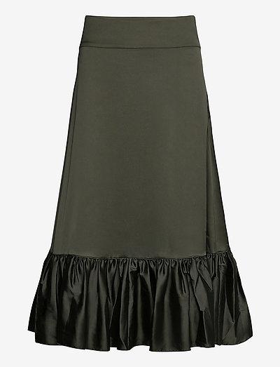 Tilly Skirt - midi nederdele - dark khaki