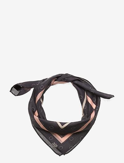 Megan Scarf - tynde tørklæder - black logo dot