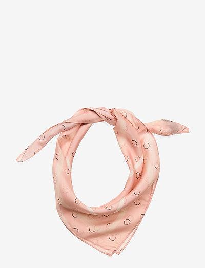 Megan Scarf - tynde tørklæder - nude logo dot