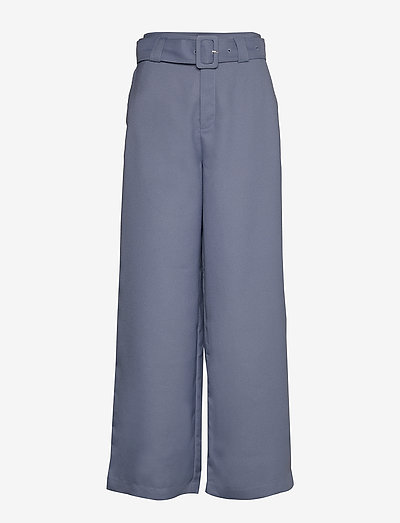Freja Trousers - casual bukser - greyish blue