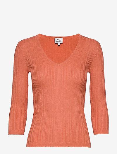 Sabina Knitted Tee - trøjer - peach