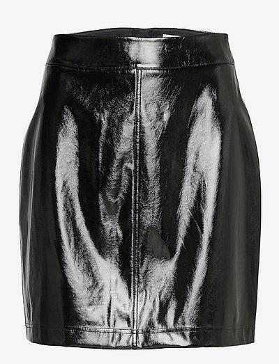 Becky Patent Skirt - pencil skirts - black