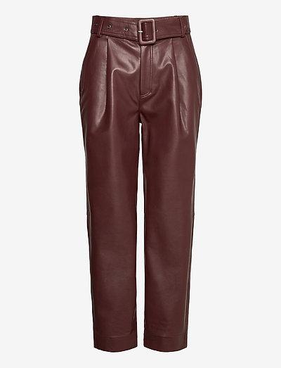 Aria Trousers - skinnbyxor - reddish brown