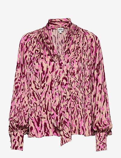 Lynda Blouse - langærmede bluser - safari pink print