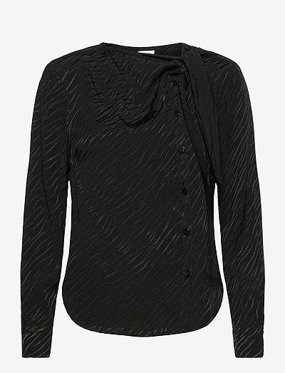 Madison Blouse - langærmede bluser - black