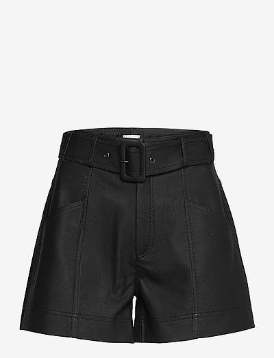 Alicia Shorts - læder shorts - black
