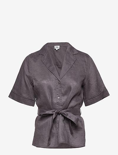 Ashley Shirt - kortærmede skjorter - dk asphalt