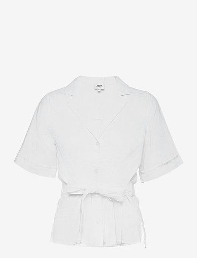 Ashley Shirt - kortærmede skjorter - white