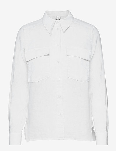 Claudia Shirt - langærmede skjorter - white