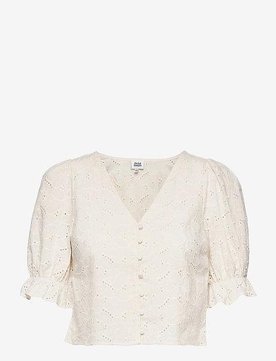 Malin Blouse - kortærmede bluser - whispy white