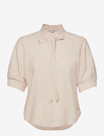 Celeste Blouse - kortærmede bluser - neutral beige