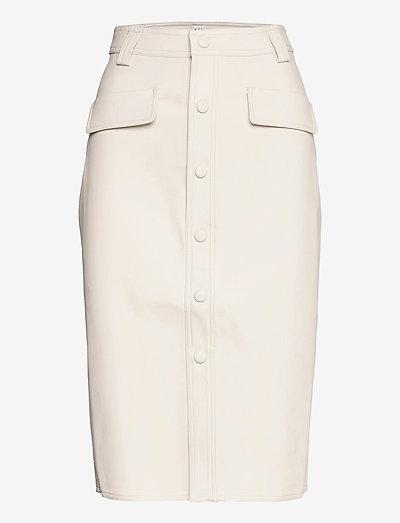 Karin Skirt - midinederdele - whispy white