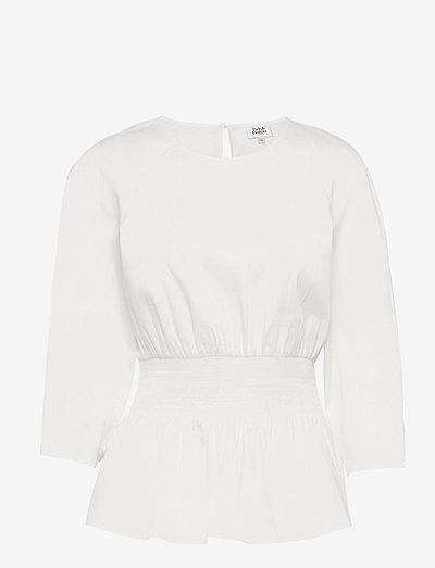 Lucille Blouse - langærmede bluser - white