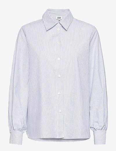 Sophie Stripe Shirt - denimskjorter - ice blue stripe