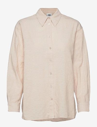 Sara Shirt - langærmede skjorter - neutral beige