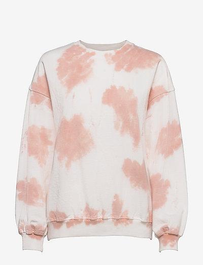 Leela Sweater - sweatshirts & hættetrøjer - lt pink batik